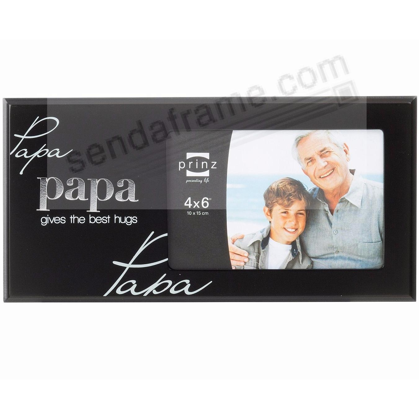 papa simply said black wood frame by prinzreg