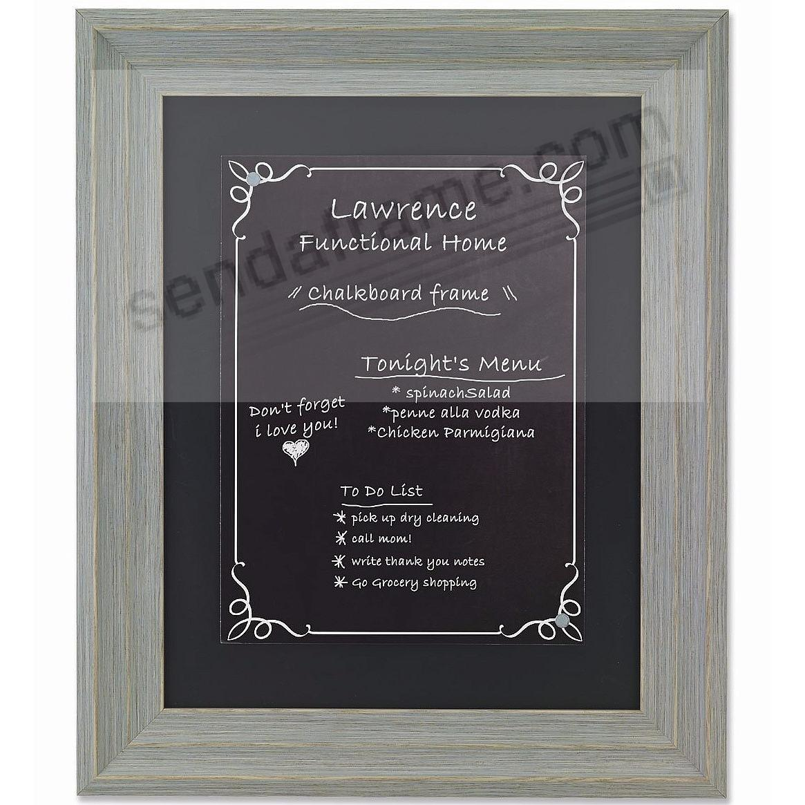 Weathered Gray Decorative Chalkboard by Lawrence Frames®