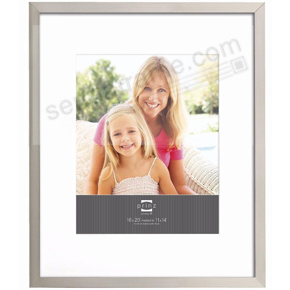 GALLERY EXPRESSIONS Nickel 16x20/11x14 frame w/white mat by Prinz ...