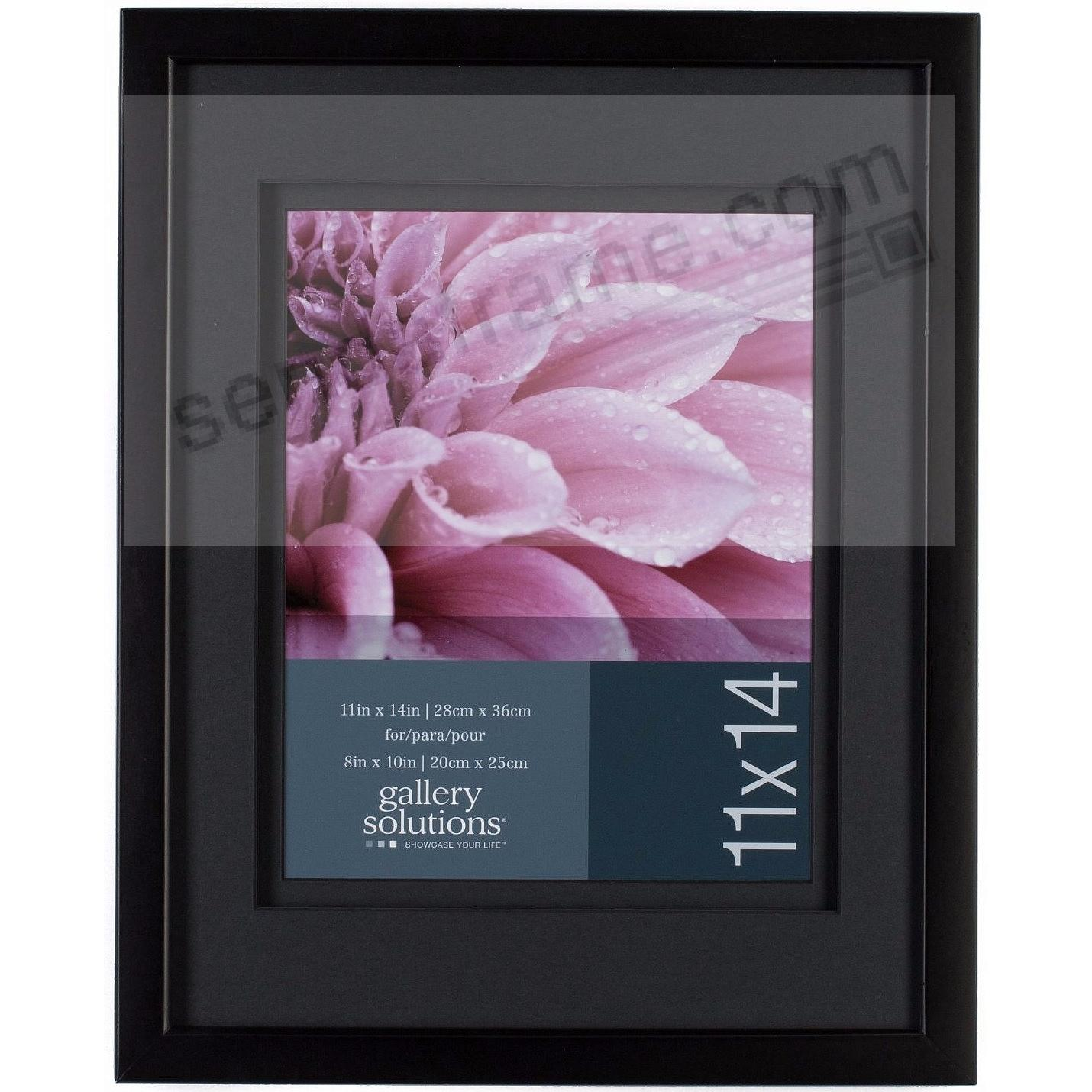 Black Wall 11x14/8x10 Frame with AirFloat Black Mat by Gallery Solutions™