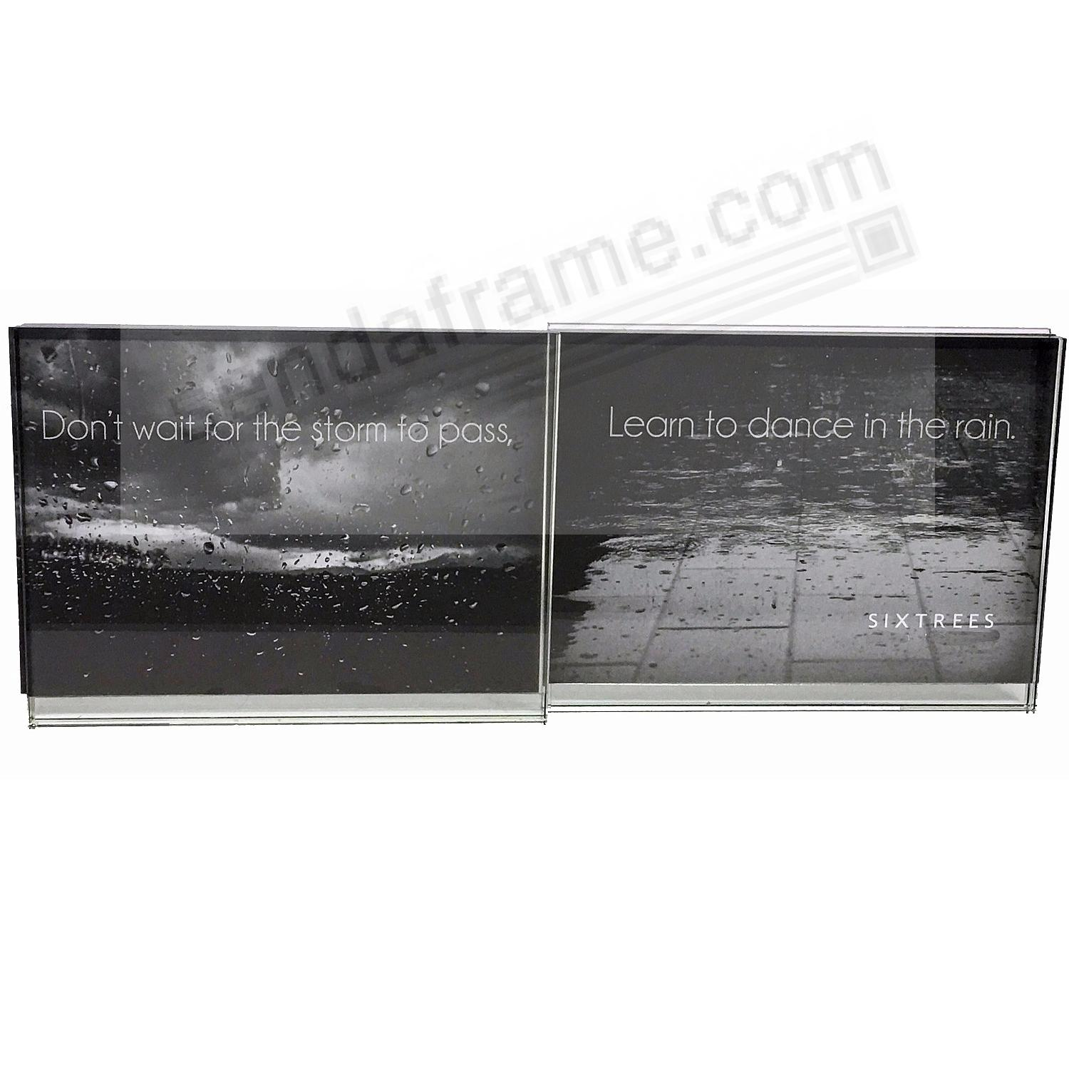 LELAND Double Photo 6x4 Glass frame by Sixtrees®