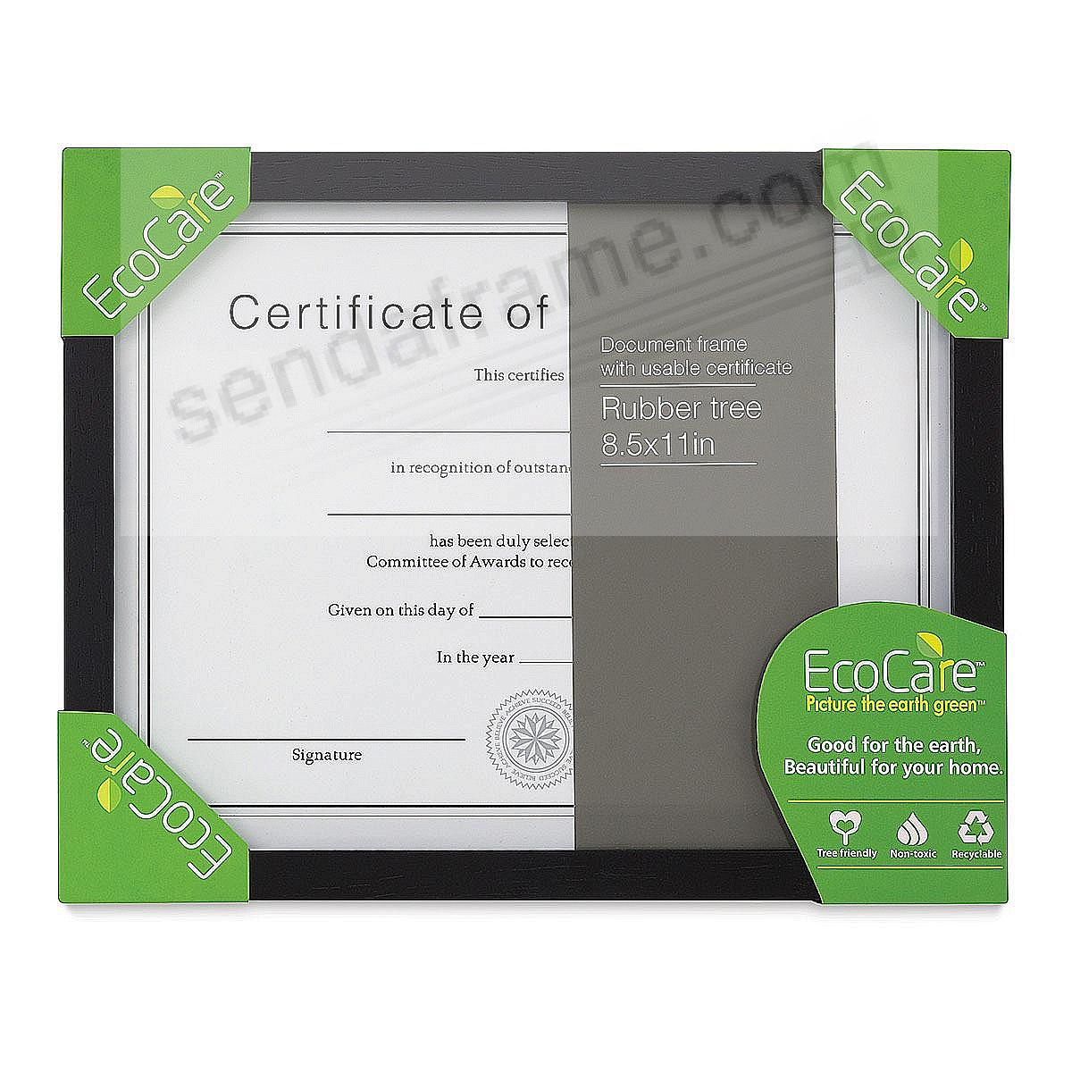 CONTEMPORARY Rubberwood Black 11x8½ frame by EcoCare®