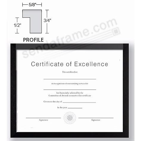 CONTEMPORARY Rubberwood Black 11x17 frame by EcoCare® - Picture ...