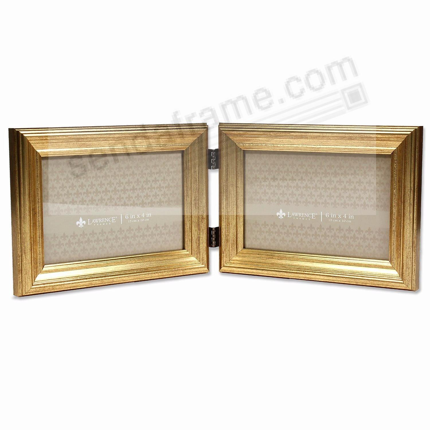 SUTTER DOUBLE Burnished Gold composite wood 4x6 frame by Lawrence ...