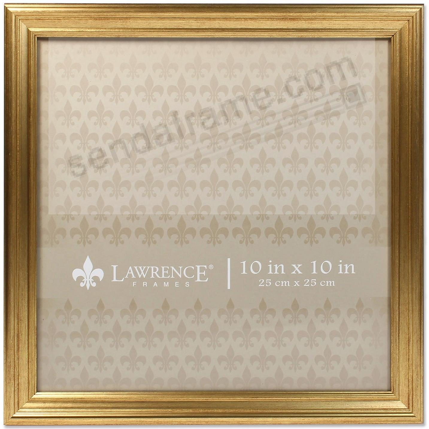 SUTTER Burnished Gold composite-wood 10x10 frame by Lawrence ...