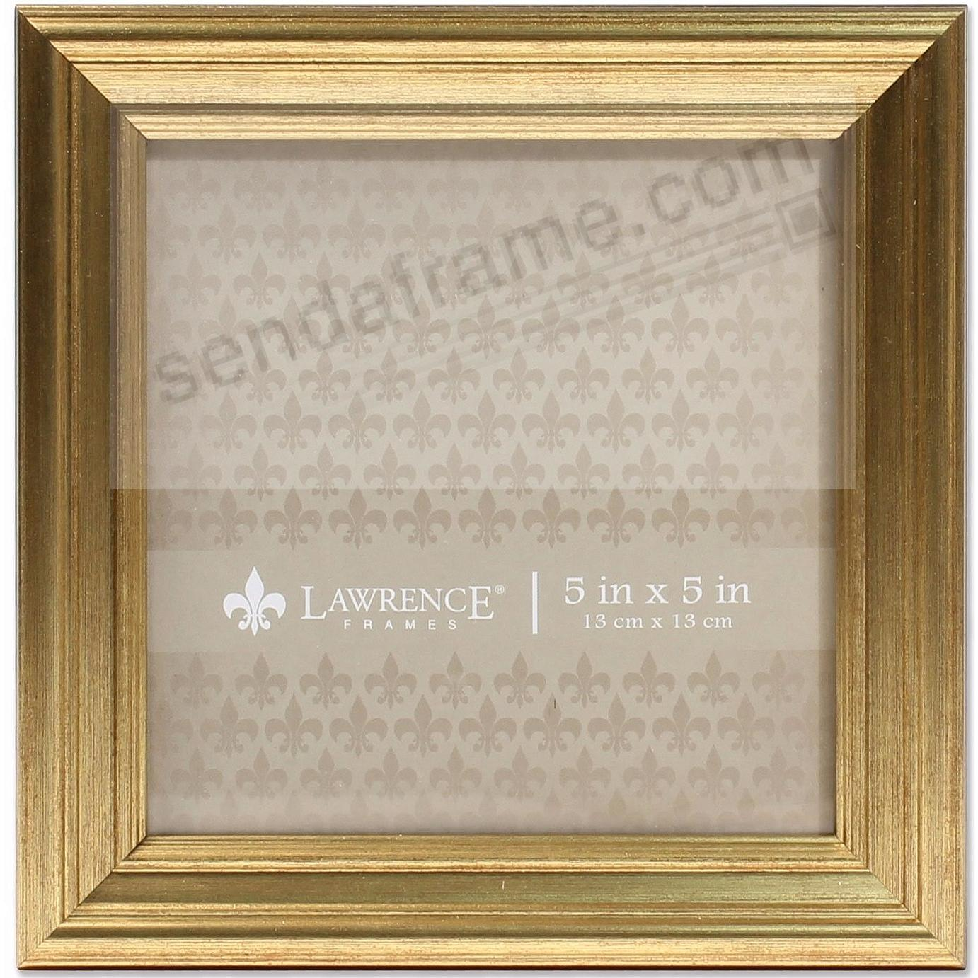 SUTTER Burnished Gold composite-wood 5x5 frame by Lawrence®