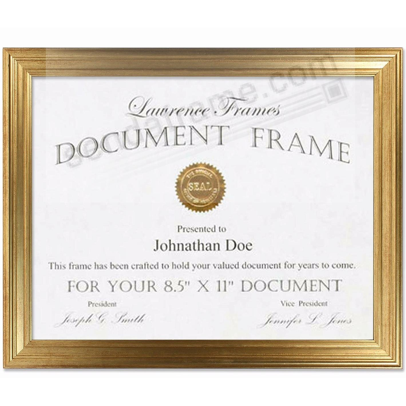 SUTTER Burnished Gold composite-wood 8½x11 frame by Lawrence®