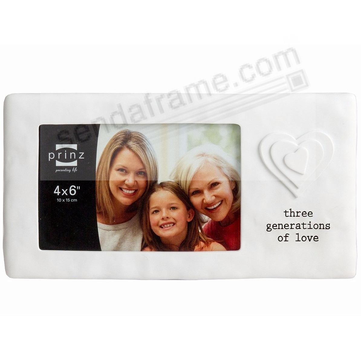 3 GENERATIONS OF LOVE White 6x4 frame by Prinz® - Picture Frames ...