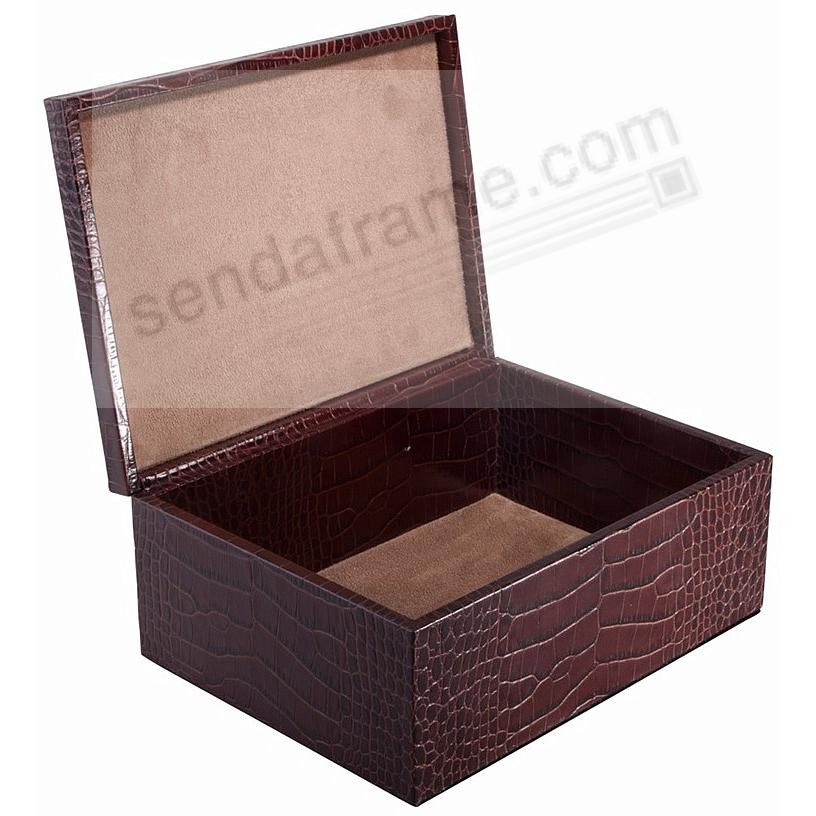 LARGE BOX CROCO-Leather BROWN by Graphic Image™