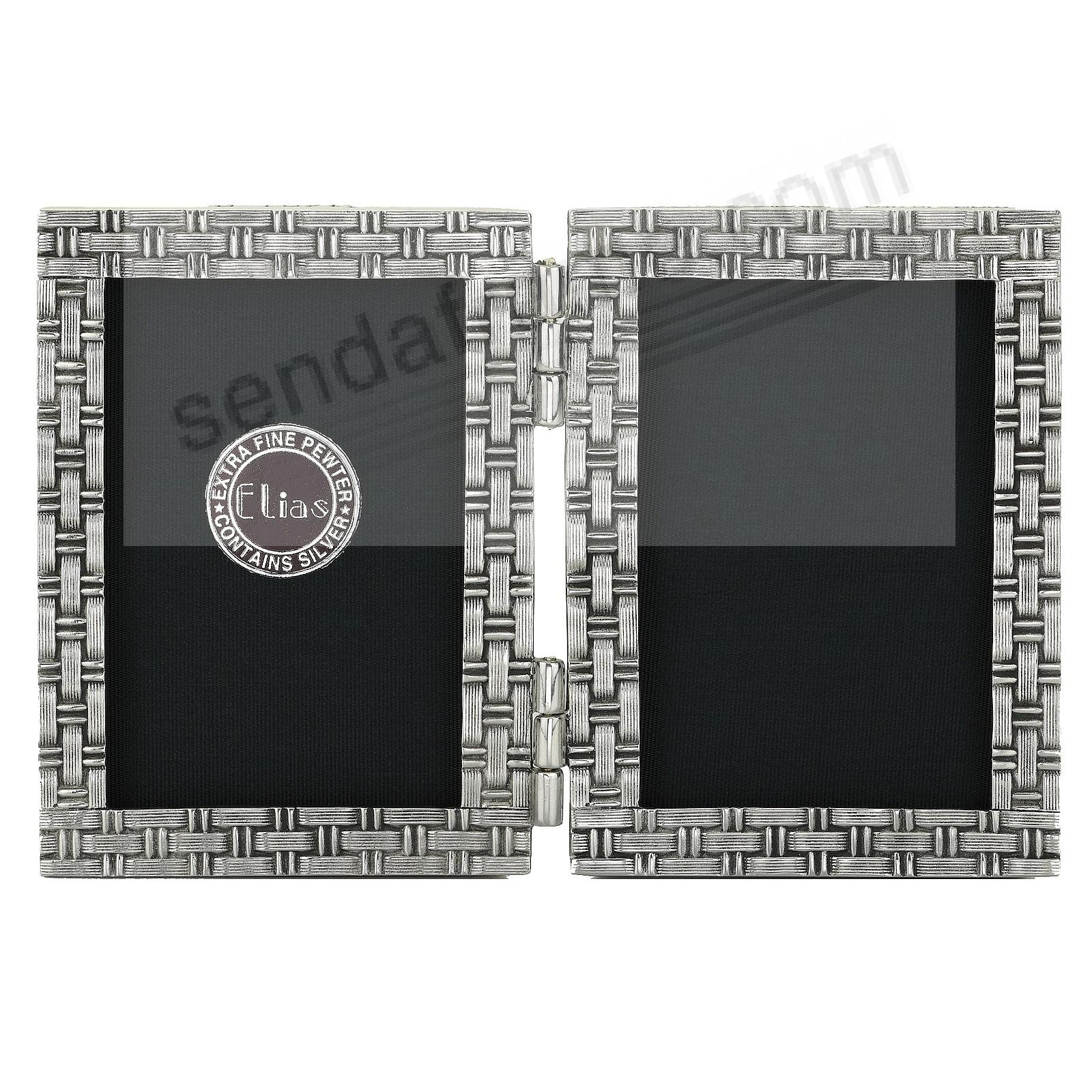 BASKETWEAVE Double 2x3 Fine Silvered Pewter by Elias Artmetal®