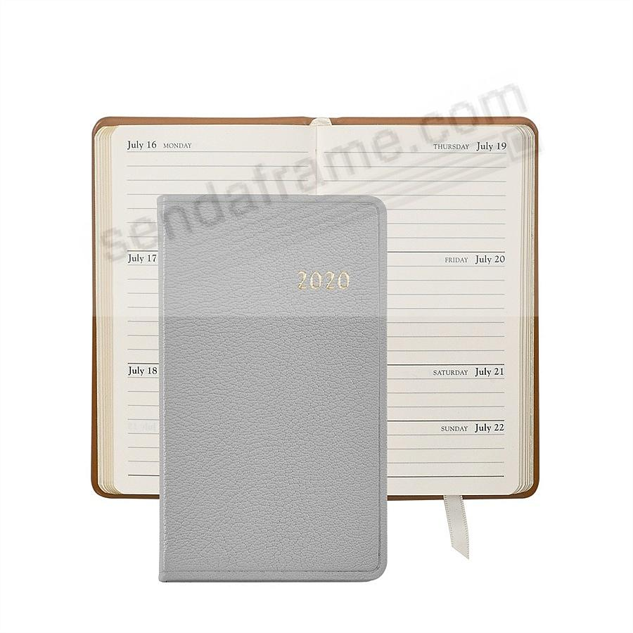 2020 GRAY 5-in Pocket Datebook in Fine Leather by Graphic Image™