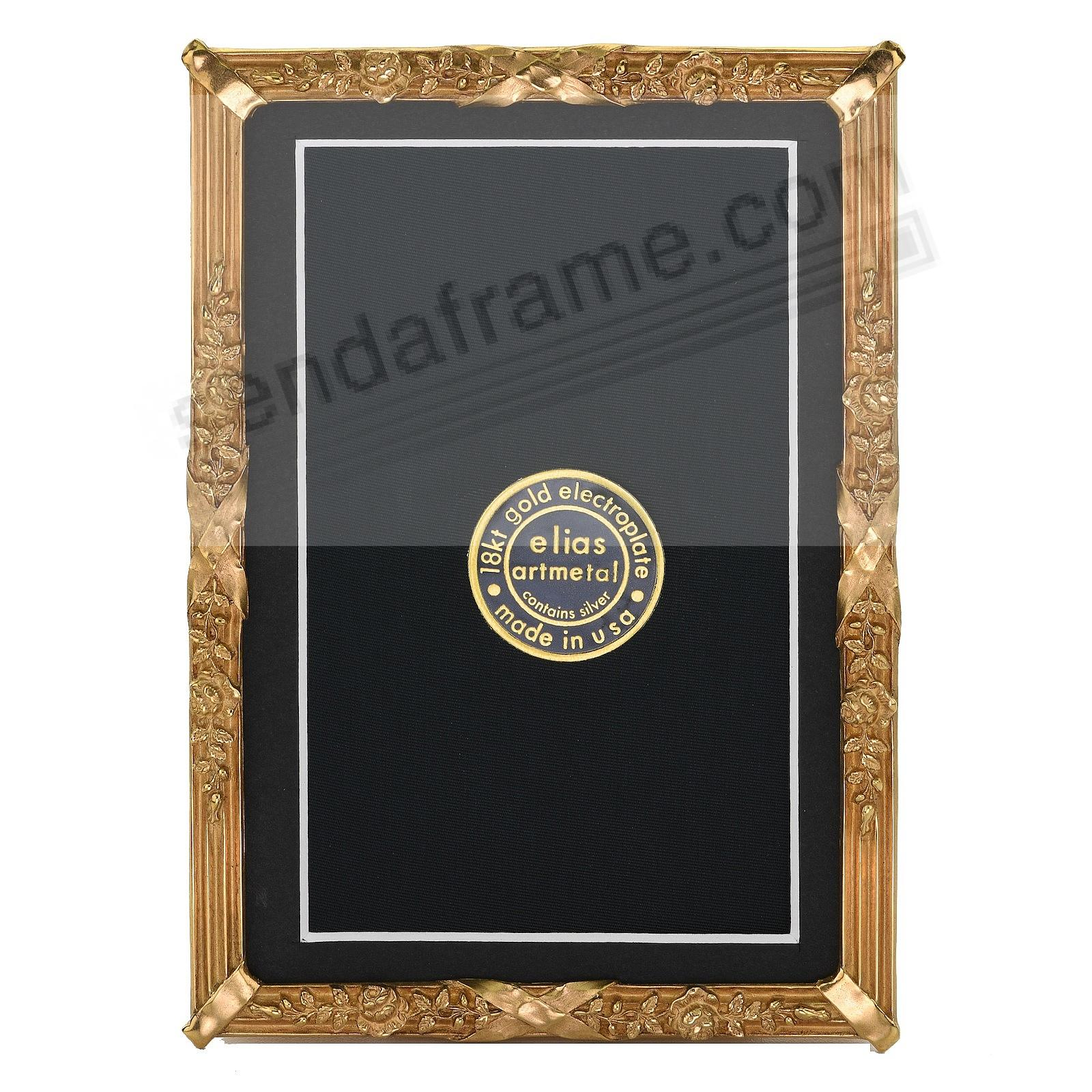 PETITE LOUIS Luxe 18kt Museum Gold over Fine Pewter 4x6/3x5 frame by Elias®