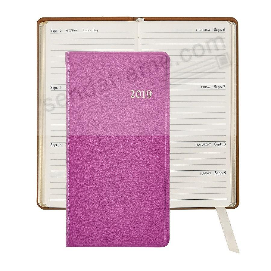2018 ORCHID 6in Pocket Datebook Diary Leather by Graphic Image™