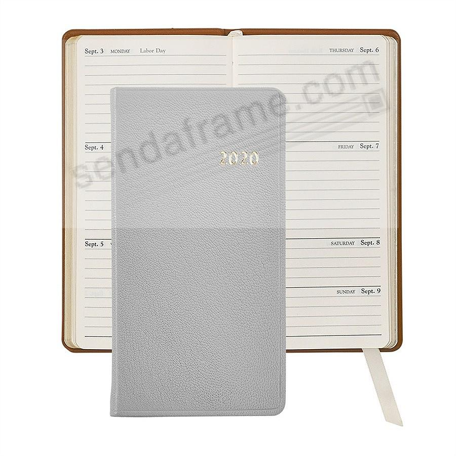 2019 GRAY 6in Pocket Datebook Goatskin Leather by Graphic Image™