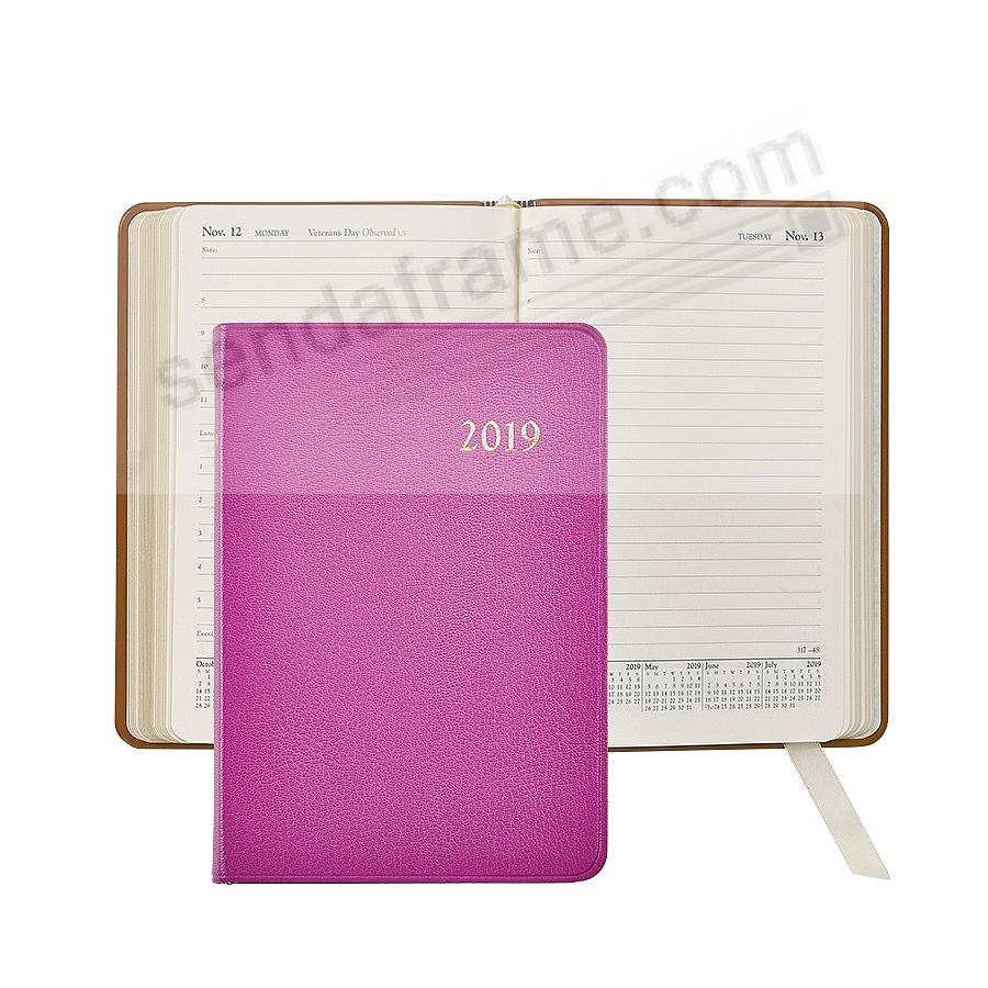 2018 BRIGHTS ORCHID Leather Daily 8in Journal by Graphic Image™