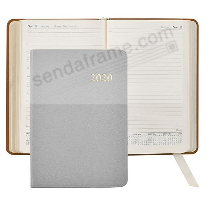 2020 GREY Goatskin leather Daily 8in Journal by Graphic Image™