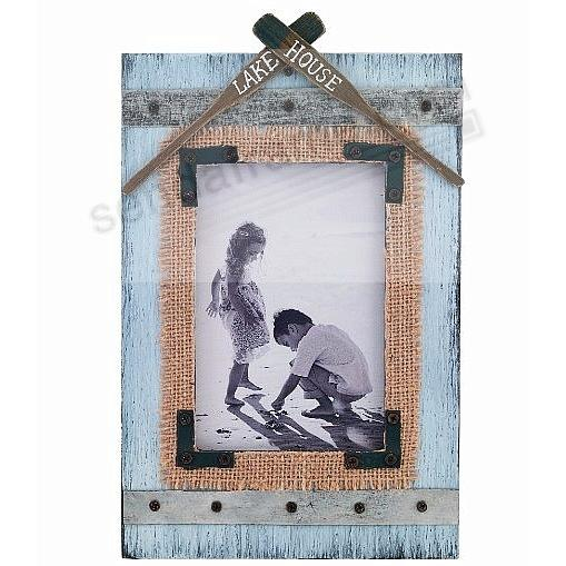 Weathered LAKE HOUSE with Oars Picture 4x6 Frame by Lawrence®