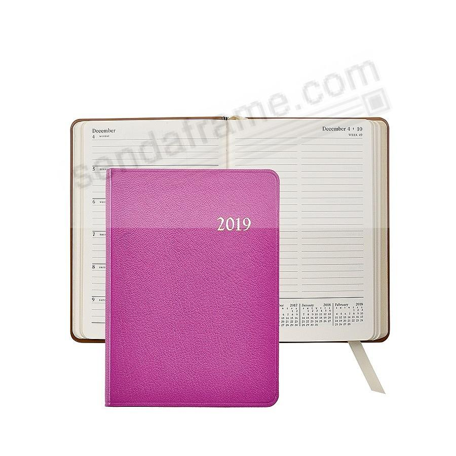 2018 Notebook Planner 7in ORCHID Fine Leather by Graphic Image™