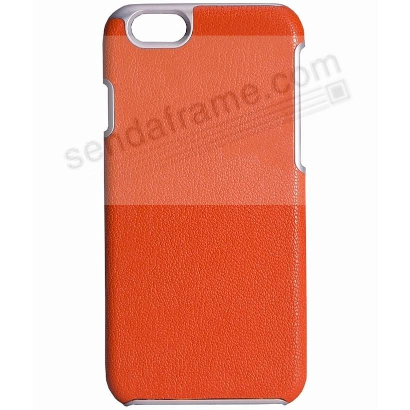 IPhone 6/6S Customizable Hard Shell Case Leather (BRIGHTS-ORANGE) by Graphic Image®