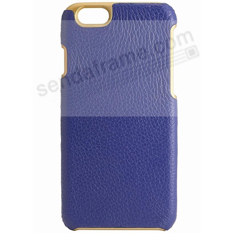 IPhone 6/6S Customizable Hard Shell Case Leather (INDIGO BLUE / PURPLE) by Graphic Image®