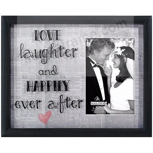 LOVE LAUGHTER AND HAPPILY EVER AFTER Newprints Reflection Frame ...