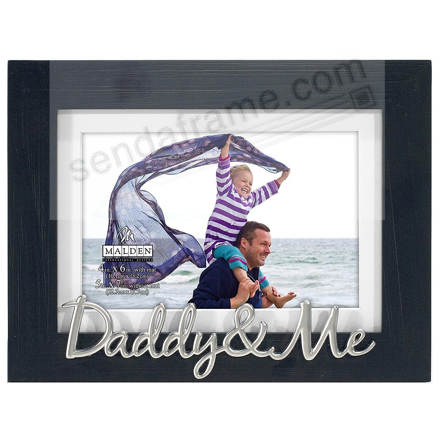DADDY + ME ebony-black matted 5x7/4x6 keepsake frame - Picture ...