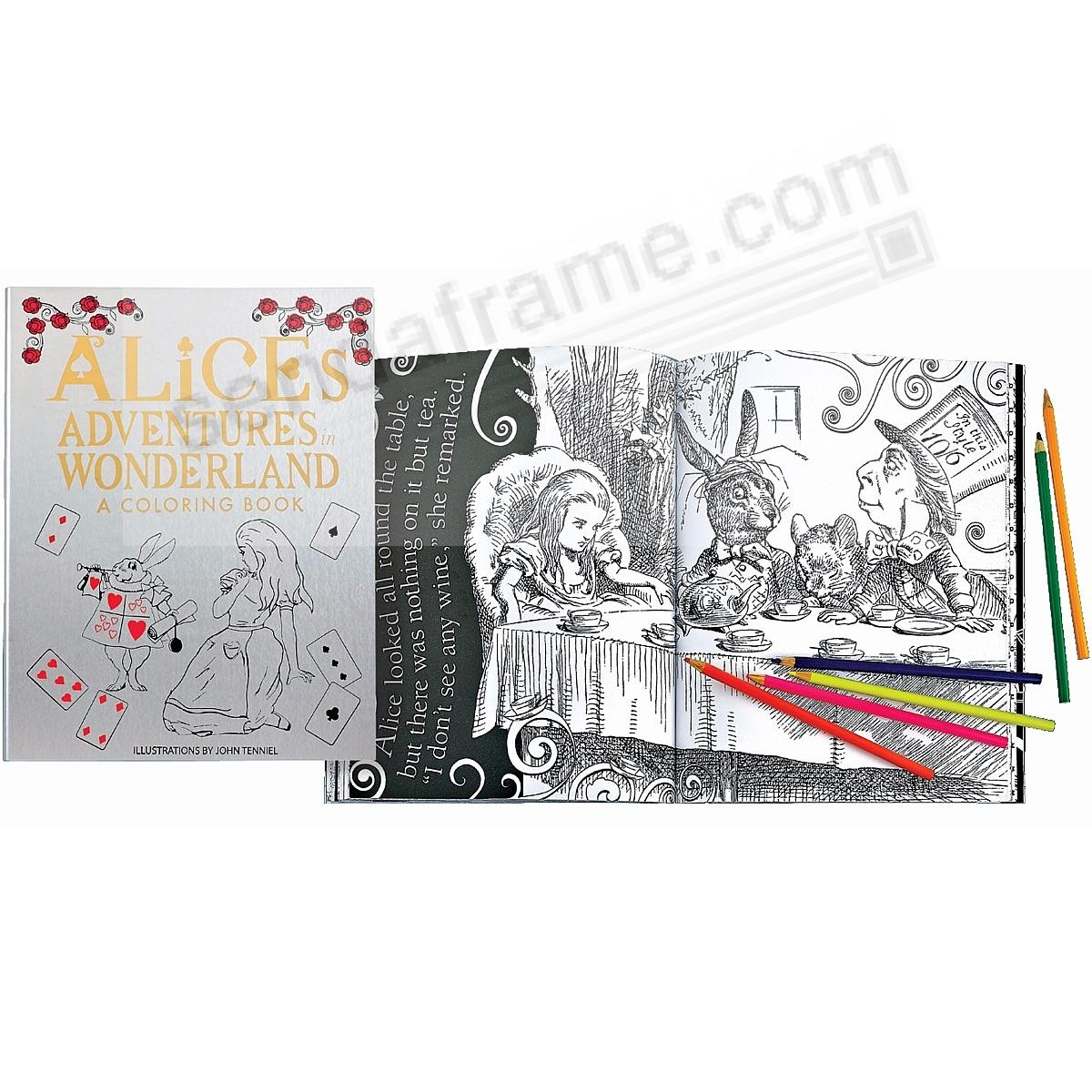 Alice's Adventures in Wonderland Coloring Book Special Edition in Luxe Soft Leather