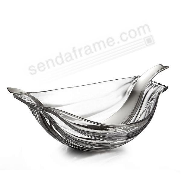 The Drift Glass Salad Bowl w/ Servers by Nambe®
