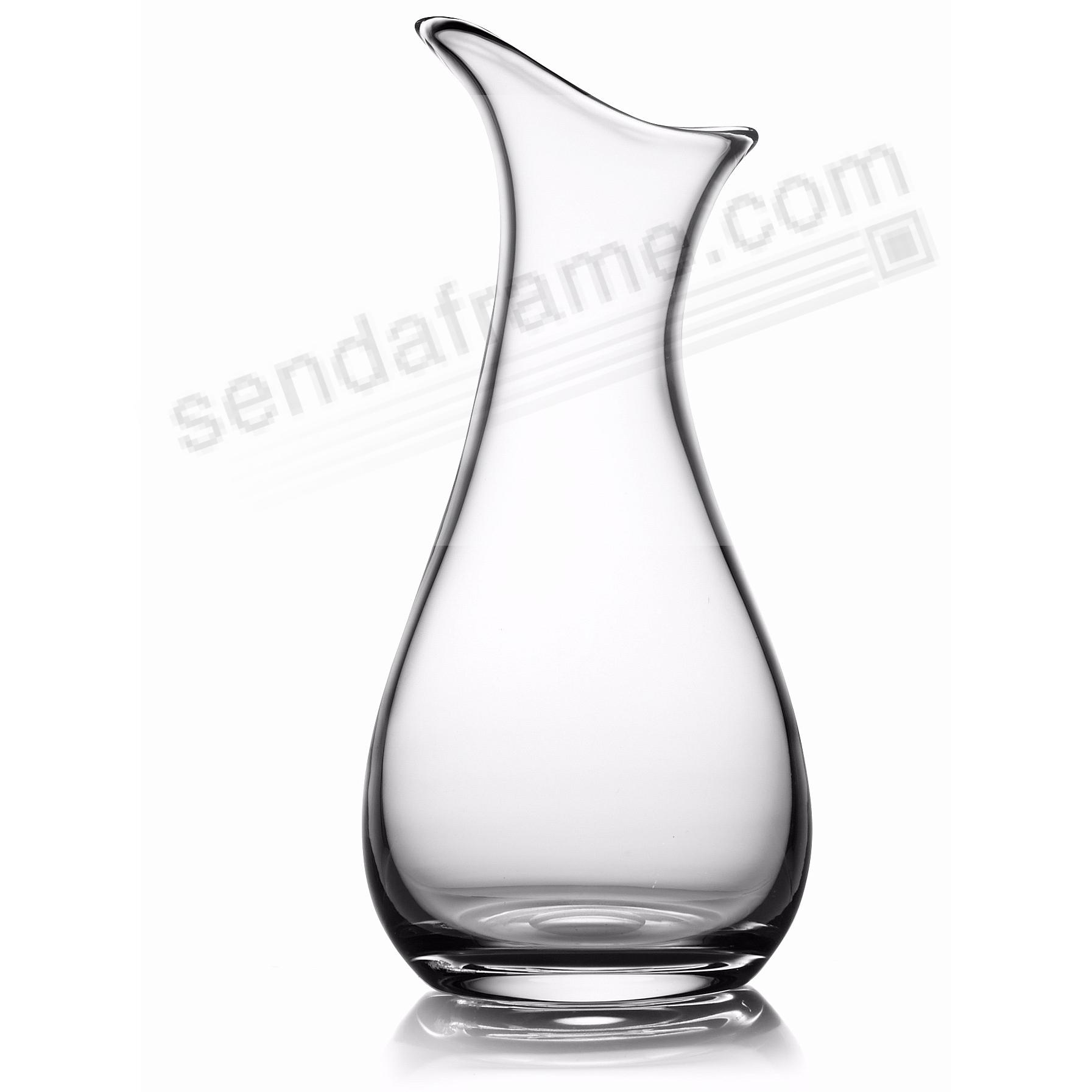 The MODERNE GLASS ART VASE 12in (CLEAR) by Nambe®