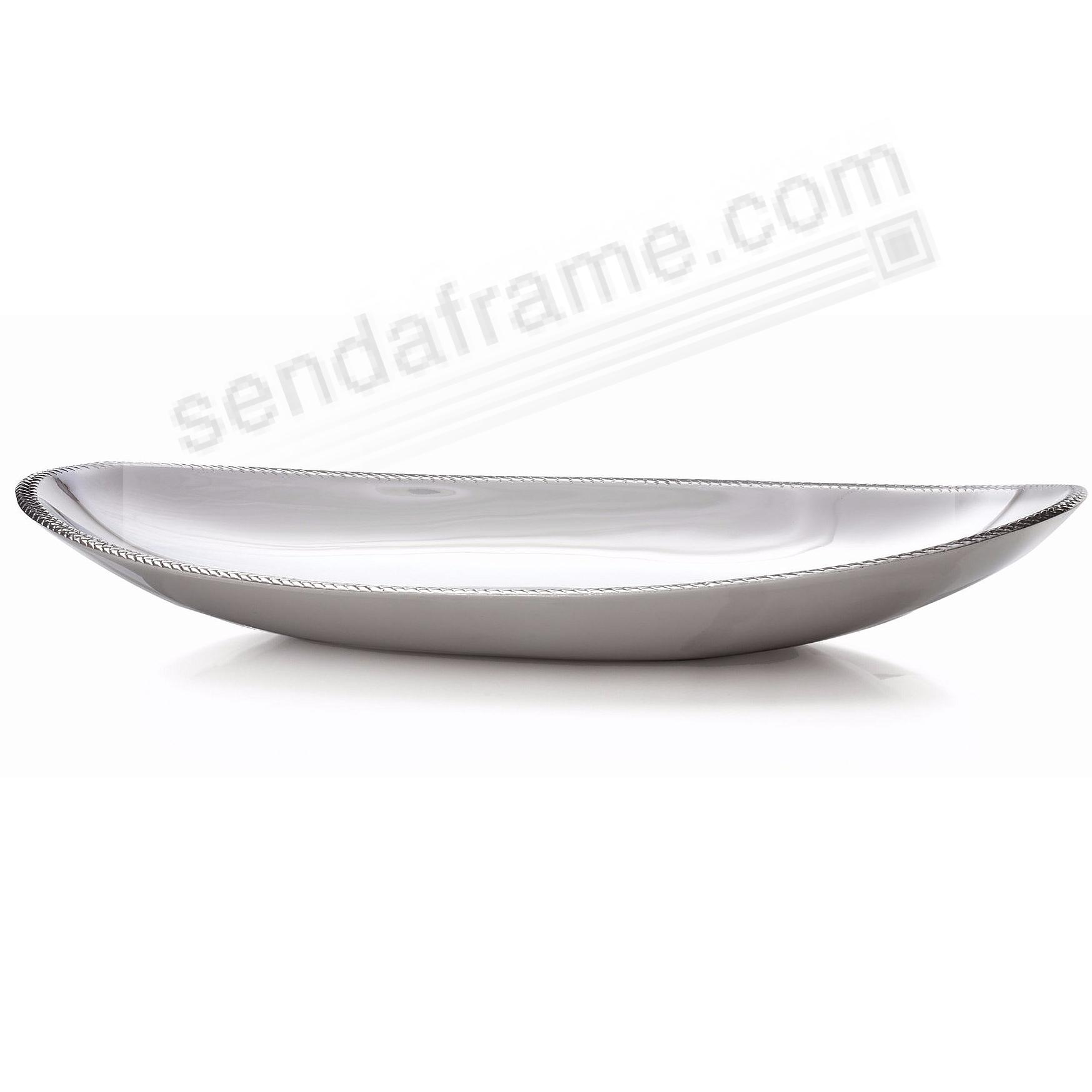 The BRAID OVAL SERVING PLATTER 18-in by Nambe®