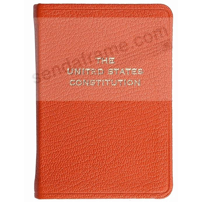 Palm-Size Constitution in ORANGE Leather by Graphic Image™