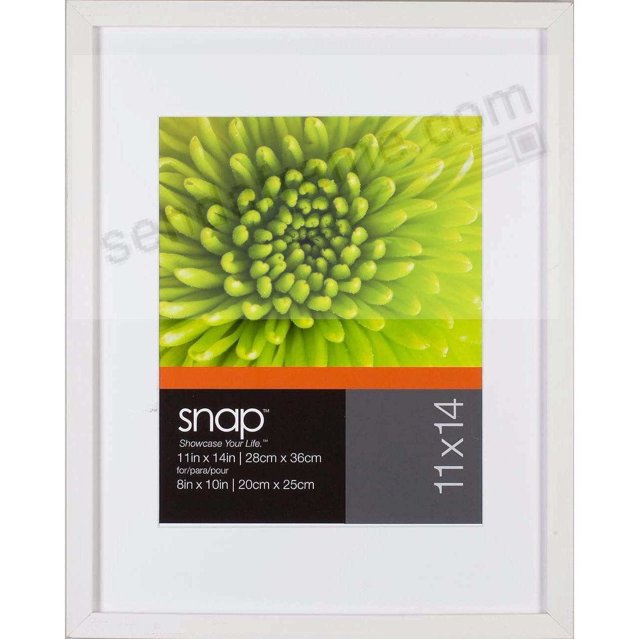 White Frame w/White Mat 16x20/11x14 by SNAP™ - Picture Frames, Photo ...