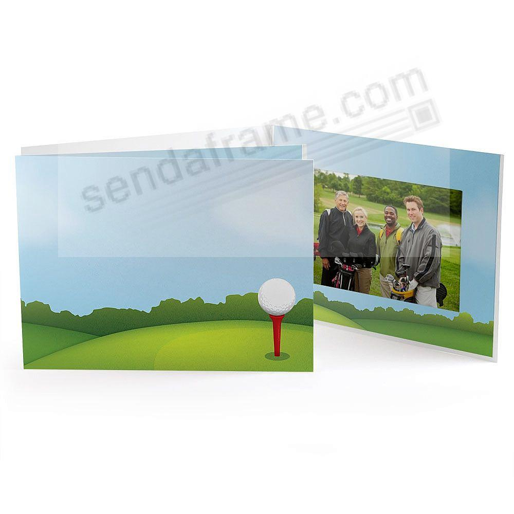 GOLF COURSE FAIRWAY Color Cardboard Folder for 7x5 prints