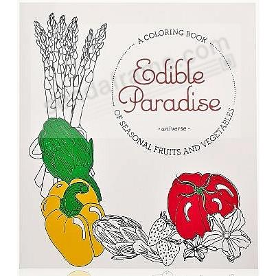 EDIBLE PARADISE White Coloring Book Special Edition in Soft Leather