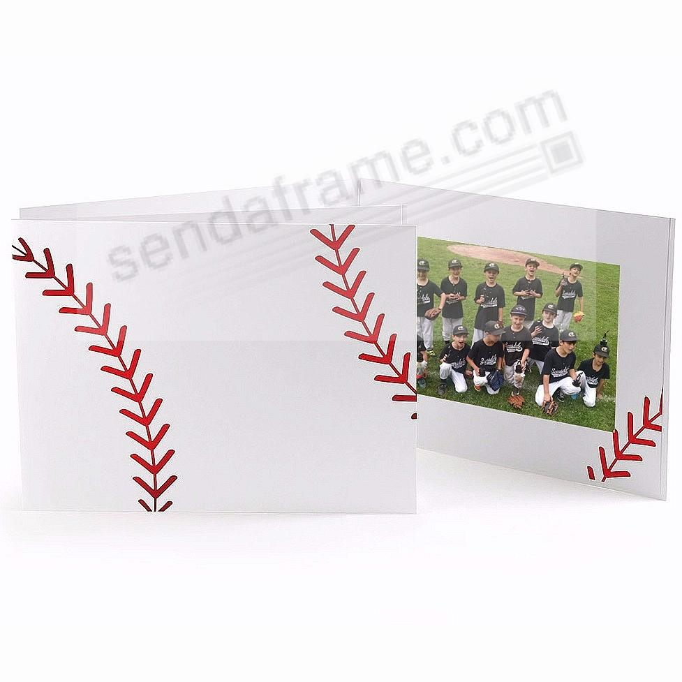 BASEBALL STITCHING Cardboard Photo Folder for 7x5 prints