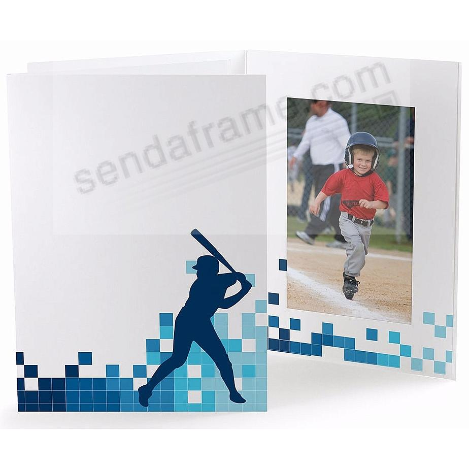 BASEBALL LOCKER ROOM Cardboard Photo Folder for 5x7 prints