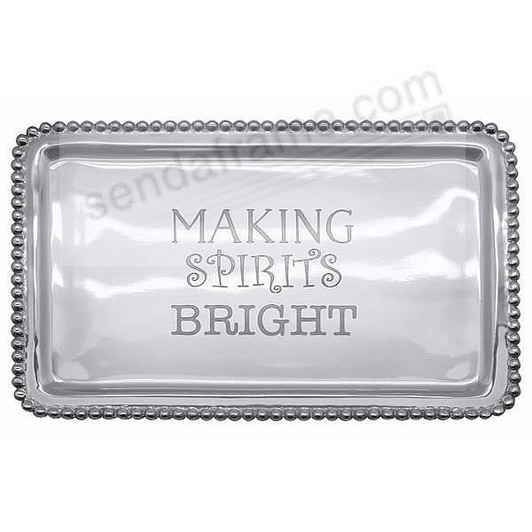 The original MAKING SPIRITS BRIGHT BEADED BUFFET Tray by Mariposa®