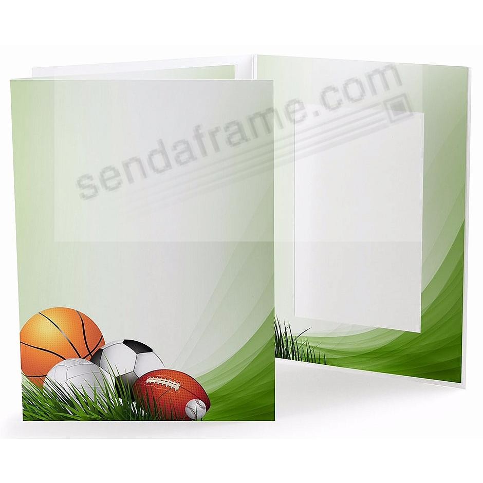 SPORTS FIELD Cardboard Photo Folder for 4x6 prints