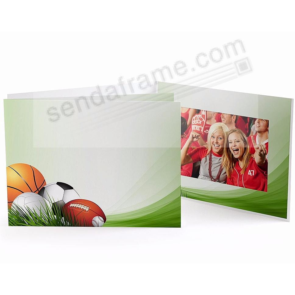 SPORTS FIELD Cardboard Photo Folder for 7x5 prints