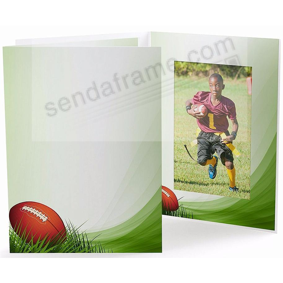 FOOTBALL FIELD Cardboard Photo Folder for 5x7 prints - Picture ...