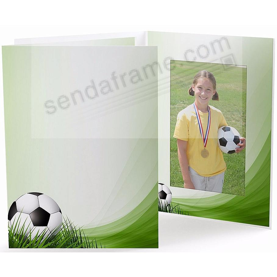 SOCCER FIELD Cardboard Photo Folder for 4x6 prints