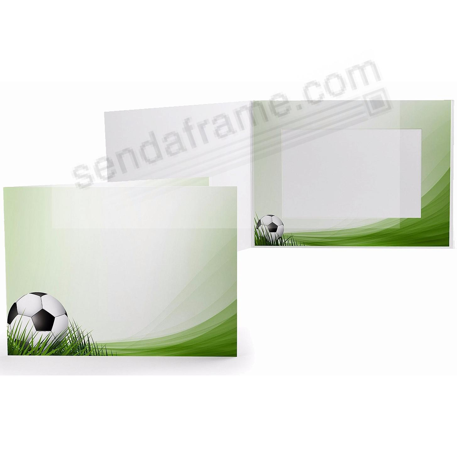 SOCCER FIELD Cardboard Photo Folder for 6x4 prints