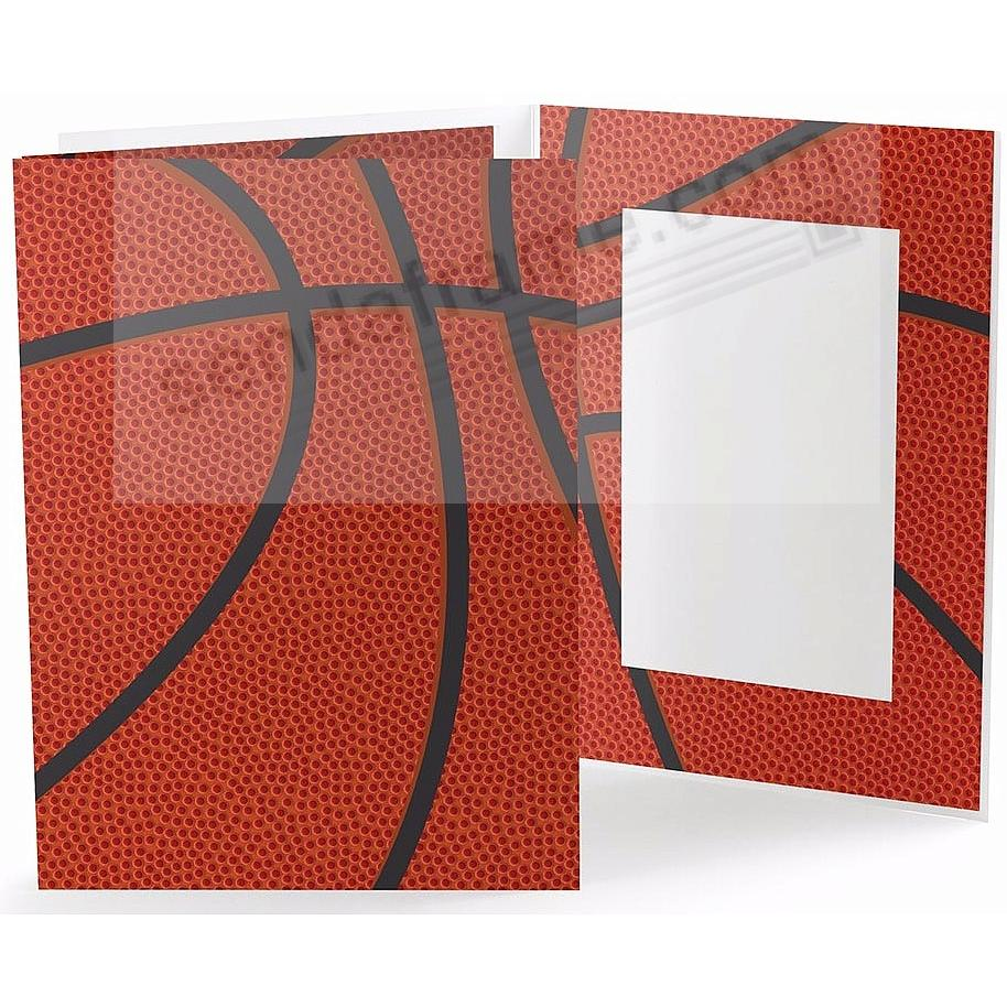 BASKETBALL STITCHING Cardboard Photo Folder for 4x6 prints - Picture ...