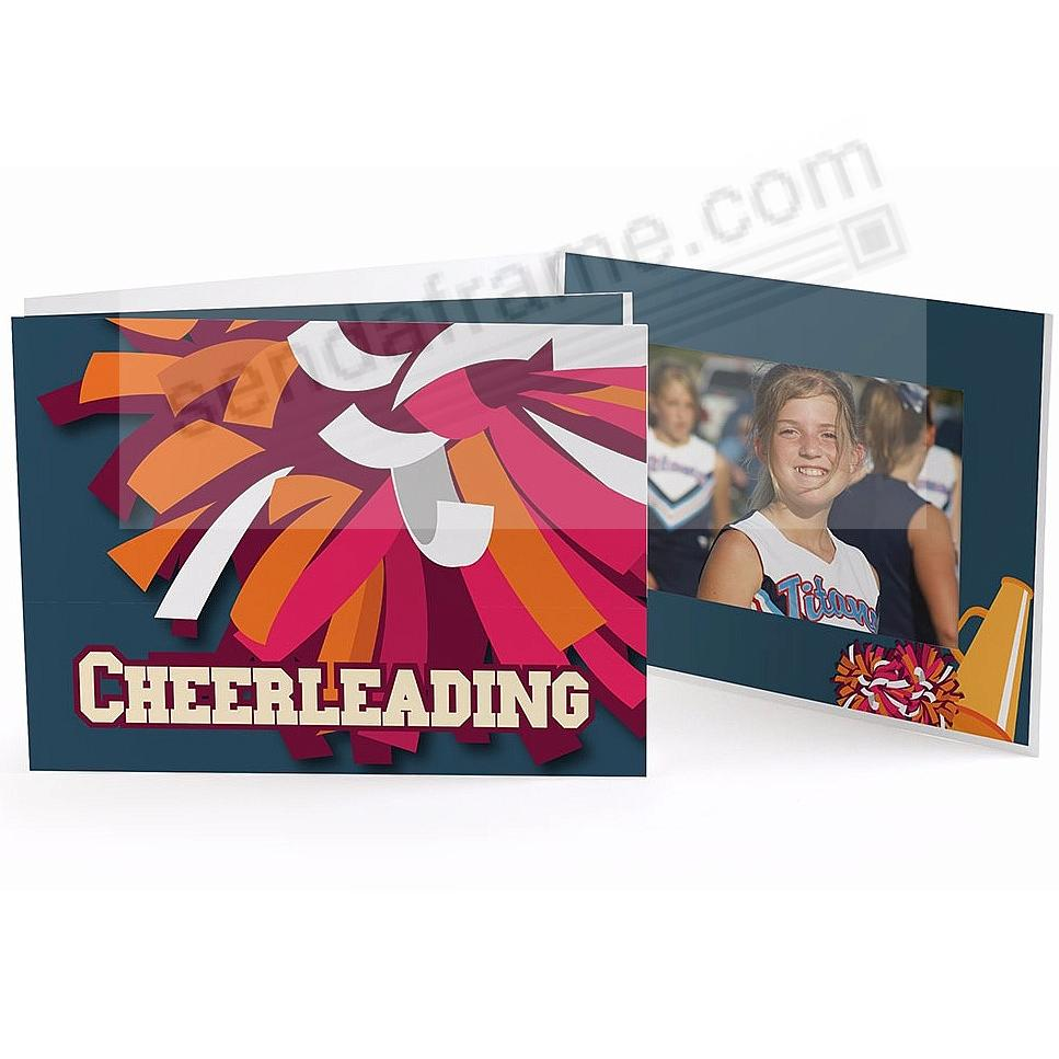 Our Colorful CHEERLEADING POM-POM 7x5 Photo Folder