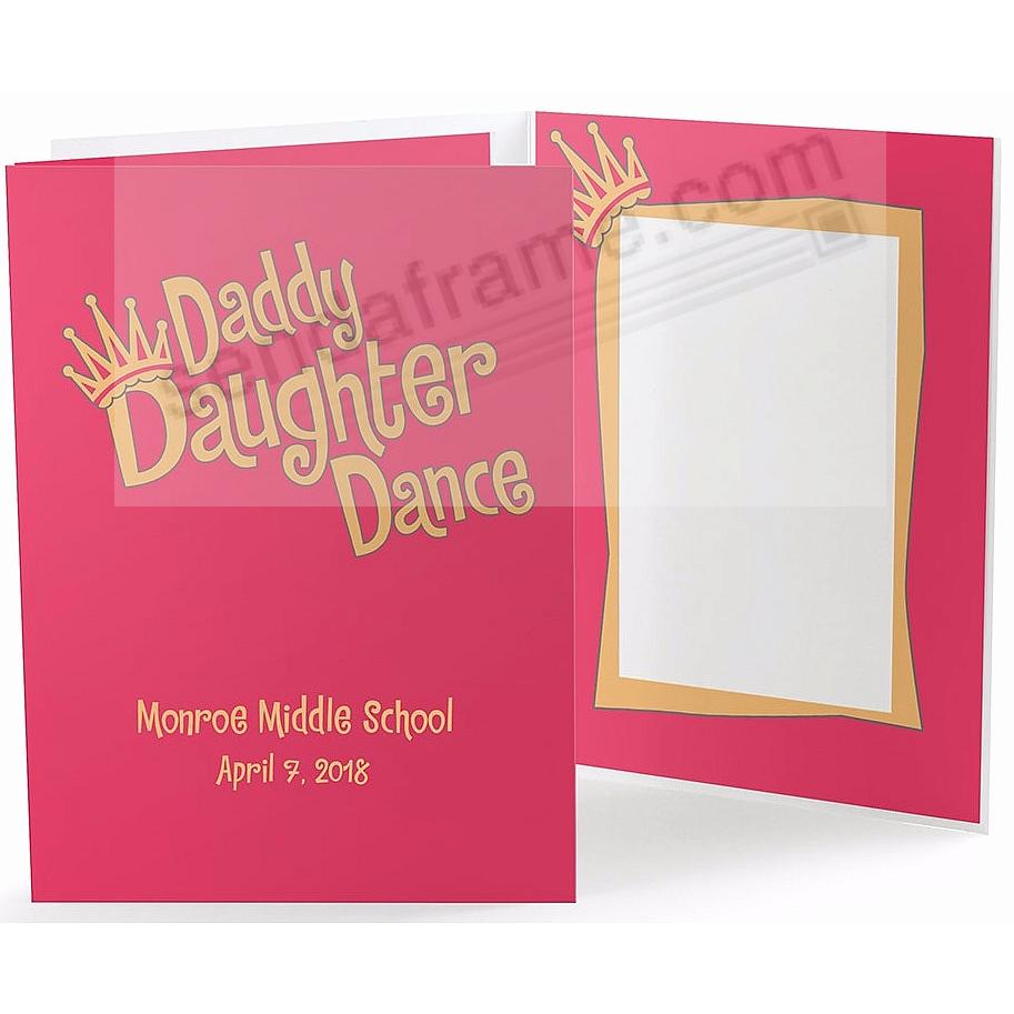 Our Colorful DADDY DAUGHTER DANCE 4x6 Photo Folder