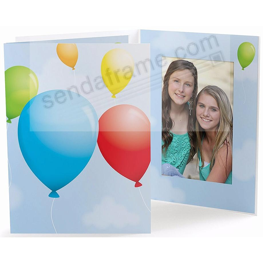 Our Colorful PARTY BALLOONS 5x7 Photo Folder