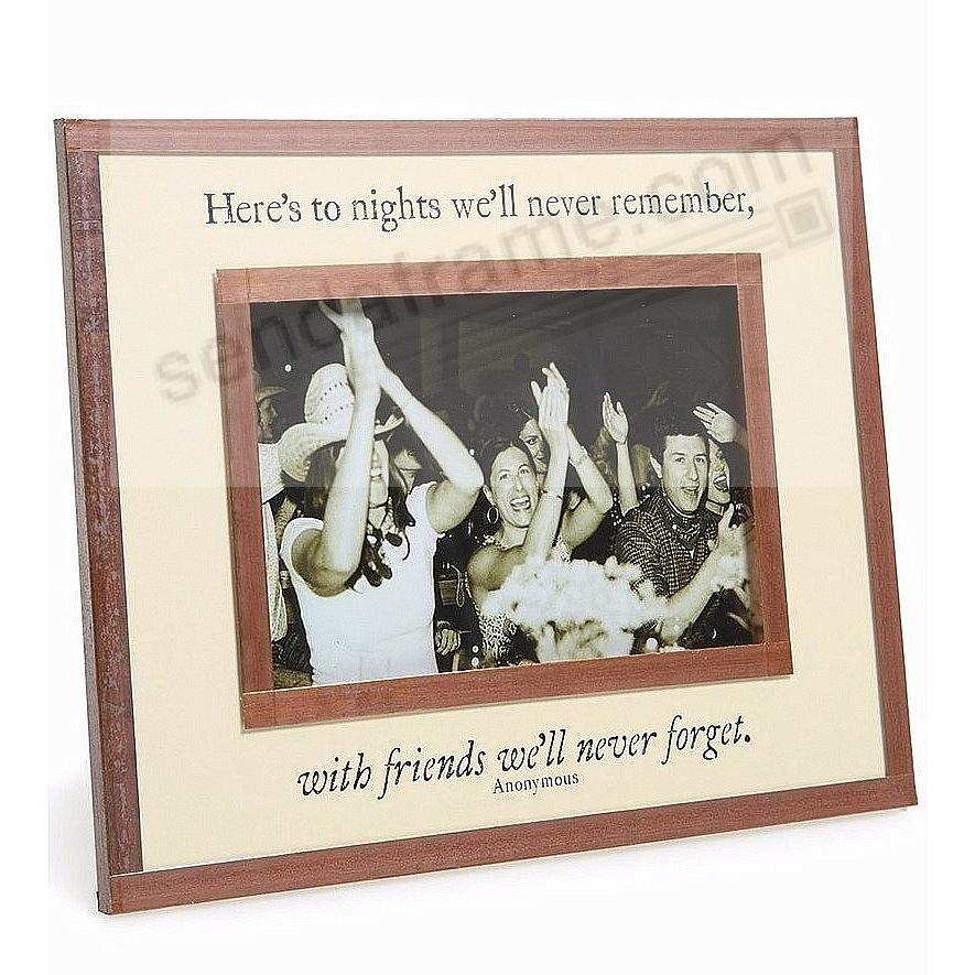 FRIENDS WE'LL NEVER FORGET Copper + Clear Glass by Ben's Garden®