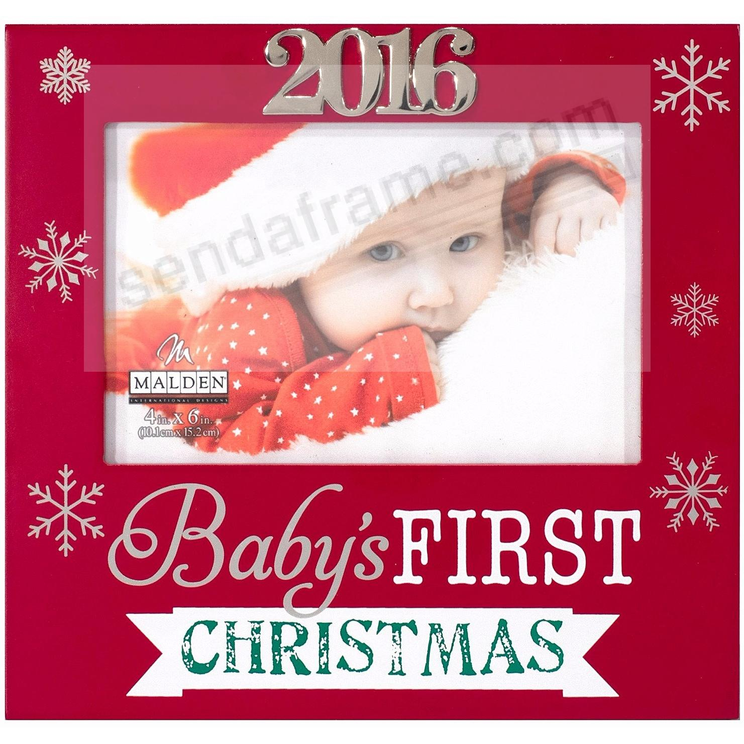 Baby S First Christmas 2016 Frame By Malden Design