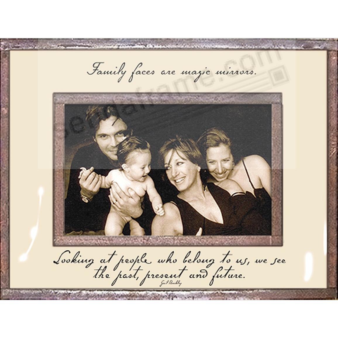 FAMILY FACES ARE MAGIC MIRRORS Copper + Clear Glass 7x8 by Ben's Garden®