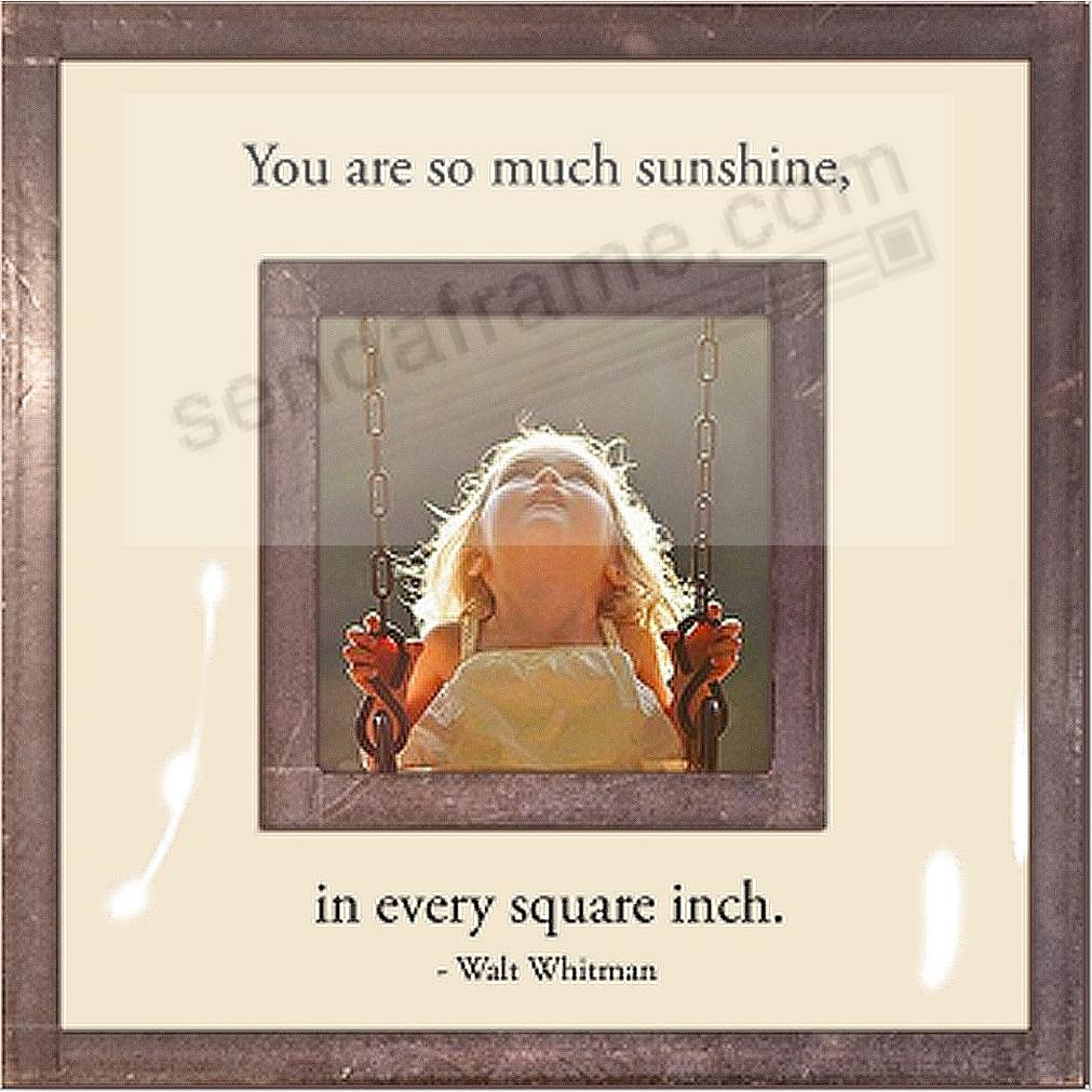 YOU ARE SO MUCH SUNSHINE Copper + Clear Glass by Ben's Garden®